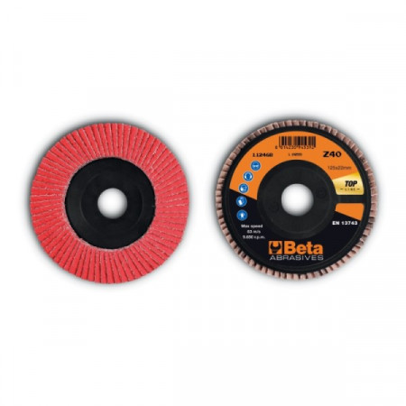 Poze Disc lamelar abraziv, ceramic, spate plastic, Ø125mm TOP LINE 11246B