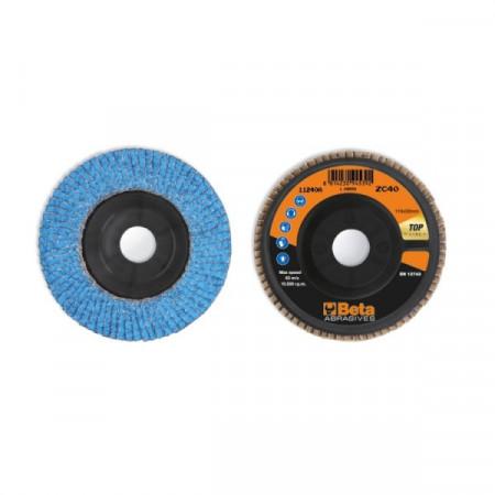 Poze Disc lamelar abraziv cu zirconiu-ceramic, spate plastic, Ø115mm TOP LINE 11240A