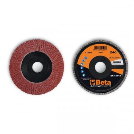 Poze Disc lamelar abraziv din corindon pentru slefuit, spate plastic, Ø180mm, PREMIUM LINE 11230C
