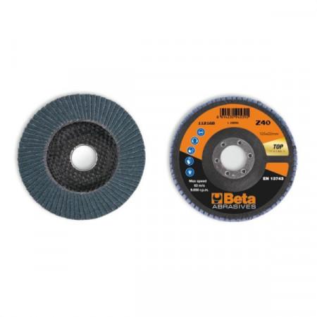 Poze Disc lamelar abraziv pentru slefuit, zirconiu, spate fibra de sticla, Ø125mm, TOP LINE 11216B