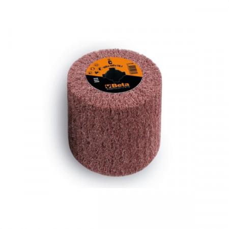 Poze Tambur lamelar, cilindric, din fibra sintetica din corindon, pentru masina de satinat, Ø100x100mm 11415B