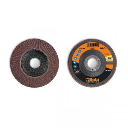 Poze Disc lamelar abraziv din corindon pentru slefuit, spate fibra de sticla, Ø115mm, TOP LINE 11234A