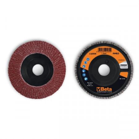 Poze Disc lamelar abraziv din corindon pentru slefuit, spate plastic, Ø115mm, PREMIUM LINE 11230A