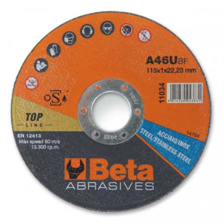Poze Disc taiere otel si inox, subtire, pentru polizor unghiular TOP LINE 11031