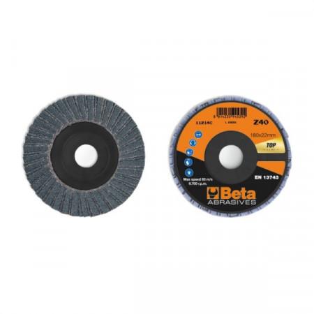 Poze Disc dublu lamelar abraziv pentru slefuit, zirconiu, spate plastic, Ø180mm, TOP LINE 11214C