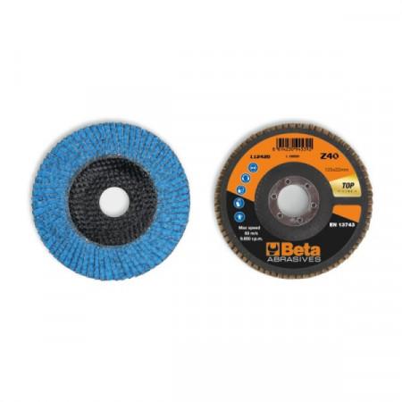Poze Disc lamelar abraziv cu zirconiu-ceramic, spate fibra de sticla, Ø125mm TOP LINE 11242B