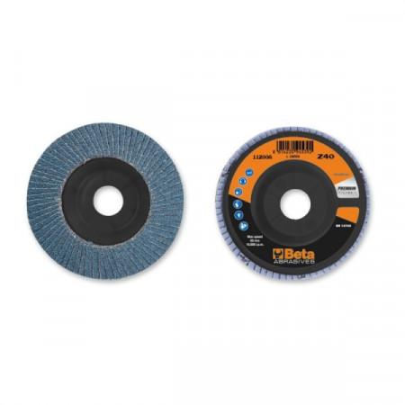 Poze Disc lamelar abraziv pentru slefuit, zirconiu, Ø115 mm, PREMIUM LINE 11200A