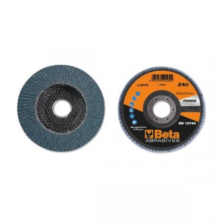 Poze Disc lamelar abraziv pentru slefuit, zirconiu, spate fibra de sticla, Ø180mm, PREMIUM LINE 11204C