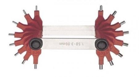 Lere concave si convexe, pentru masurarea razei 1707B/1
