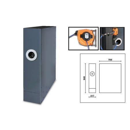 Poze Picior universal pentru banc, cu rola furtun aer comprimat C55B/GAA