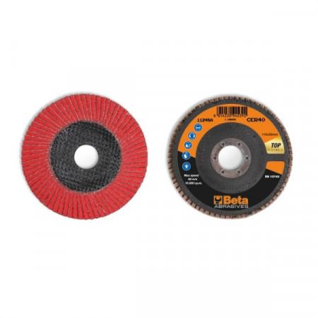 Poze Disc lamelar abraziv, ceramic, spate fibra de sticla, Ø115mm TOP LINE 11248A