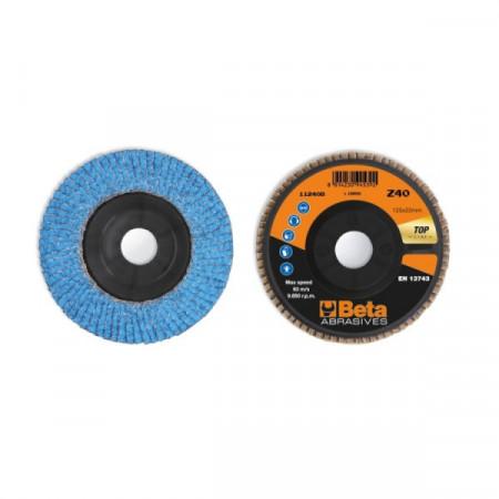 Poze Disc lamelar abraziv cu zirconiu-ceramic, spate plastic, Ø125mm TOP LINE 11240B