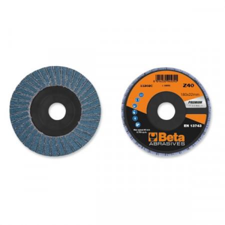 Poze Disc lamelar abraziv pentru slefuit, zirconiu, spate fibra de sticla, Ø115 mm, PREMIUM LINE 11204A