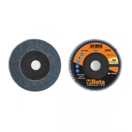 Poze Disc lamelar abraziv pentru slefuit, zirconiu, spate plastic, Ø125mm, TOP LINE 11212B