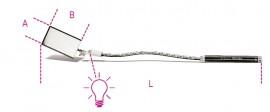 Oglinda flexibila, cu iluminare    1715FL/B