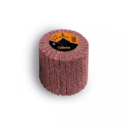Poze Tambur lamelar abraziv si fibra sintetica din corindon, pentru masina de satinat, Ø100x100mm 11420B