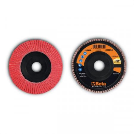 Poze Disc lamelar abraziv, ceramic, spate plastic, Ø115mm TOP LINE 11246A