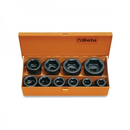 "Set tubulare impact actionare 3/4"", 10 piese, 17-46mm 728/C10"