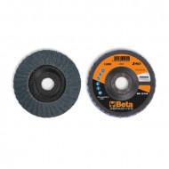 Disc conic dublu lamelar abraziv pentru slefuit, zirconiu, spate fibra de sticla, Ø125mm, TOP LINE 11222B
