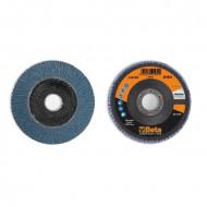 Disc conic lamelar abraziv pentru slefuit, zirconiu, spate fibra de sticla, Ø115mm, PREMIUM LINE 11210A