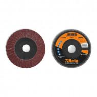 Disc dublu lamelar abraziv din corindon pentru slefuit, spate plastic, Ø125mm, PREMIUM LINE 11232B