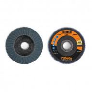 Disc dublu lamelar abraziv pentru slefuit, zirconiu, spate fibra de sticla, Ø115mm, TOP LINE 11218A