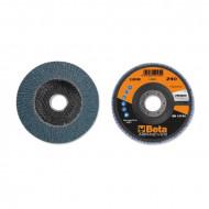 Disc lamelar abraziv pentru slefuit, zirconiu, spate fibra de sticla, Ø125 mm, PREMIUM LINE 11204B