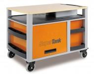 SuperTank, Dulap mobil cu 10 sertare si blat de lemn C28