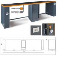 Banc de lucru dublu, 4m, portocaliu C55PRO-BO/D4