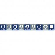 Cheie pentru panouri, articulata, 8 capete 1600Q 10