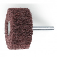 Perie abraziva, fibra sintetica din corindon Ø80mm, cu tija Ø6mm 11271C