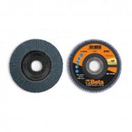 Disc conic lamelar abraziv pentru slefuit, zirconiu, spate fibra de sticla, Ø125mm, TOP LINE 11220B