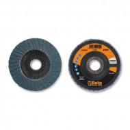 Disc dublu lamelar abraziv pentru slefuit, zirconiu, spate fibra de sticla, Ø115mm, PREMIUM LINE 11208A