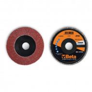 Disc lamelar abraziv din corindon pentru slefuit, spate plastic, Ø180mm, PREMIUM LINE 11230C