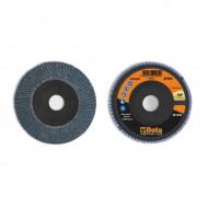 Disc lamelar abraziv pentru slefuit, zirconiu, spate plastic, Ø115mm, TOP LINE 11212A