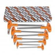 Set imbusuri tip T cu maner, 8 piese INOX 96TINOX/S8