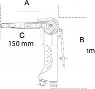 Șlefuitor pneumatic cu bandă de 10 mm 1937N10