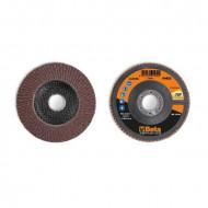 Disc lamelar abraziv din corindon pentru slefuit, spate fibra de sticla, Ø115mm, TOP LINE 11234A