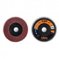 Disc lamelar abraziv din corindon pentru slefuit, spate plastic, Ø115mm, PREMIUM LINE 11230A