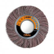 Disc perie lamelara cu panza taiata, din corindon pentru slefuire, Ø250x50mm 11310F