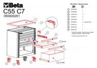 Dulap mobil, 7 sertare modular C55C7