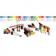 Set chei combinate cu clichet, colorate, 8-19mm, 9 piese 142MC/SC9I