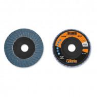 Disc dublu lamelar abraziv pentru slefuit, zirconiu, Ø115 mm, PREMIUM LINE 11202A