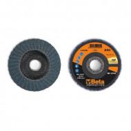 Disc dublu lamelar abraziv pentru slefuit, zirconiu, spate fibra de sticla, Ø125mm, TOP LINE 11218B