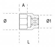 Tubulara bihexagonala actionare 1/2' 920B