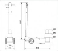 Cric hidraulic profesional pentru autobuze si camioane 50T AC Hydraulic 50-2