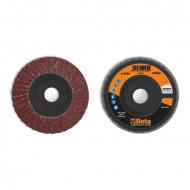 Disc dublu lamelar abraziv din corindon pentru slefuit, spate plastic, Ø115mm, PREMIUM LINE 11232A