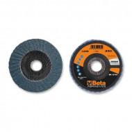 Disc dublu lamelar abraziv pentru slefuit, zirconiu, spate fibra de sticla, Ø125mm, PREMIUM LINE 11208B