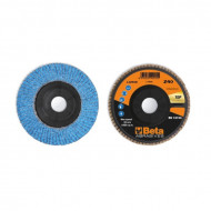 Disc lamelar abraziv cu zirconiu-ceramic, spate plastic, Ø125mm TOP LINE 11240B