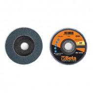 Disc lamelar abraziv pentru slefuit, zirconiu, spate fibra de sticla, Ø180mm, TOP LINE 11216C